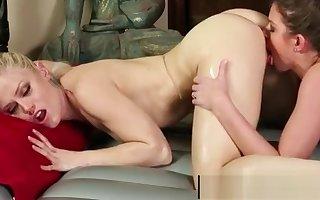 Japanese gaffer masseuse gives nuru curdle rub down 04