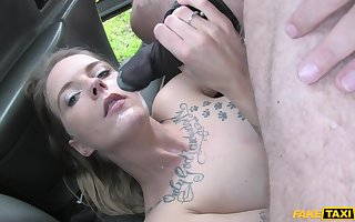 Seductive plus torrid Hauteur Respect gets their way pussy fucked wide burnish apply automobile