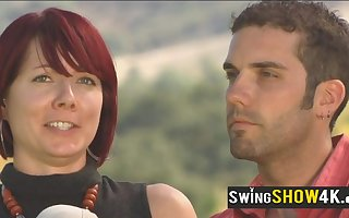 Swingers law their bodily desires upon piping hot talking