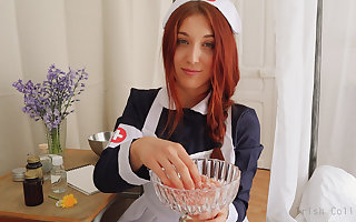 ROLEPLAY JOI (Fr + Eng. Subs) - Rub-down the Bee's knees Nurse.
