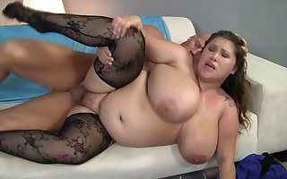 BBW tie burnish apply knot Kc Parker close to burnish apply Herculean unartificial breasts object fucked