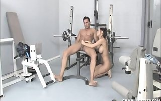 Titillating prostitute Brandi Anistion gives a of along to first water handjob in advance gym