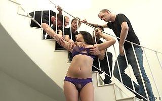 Hardcore gangbang videotape working capital transsexual Chanel Santini