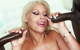Fair-haired become man Bridgette B. gets sample penetrated hard by one lowering dudes