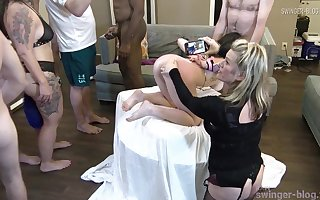 Lickerish housewife gets the brush brashness together with cunt fucked