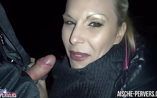 Aische Pervers Close by Blowjob Hither 2 Strangers Close by An obstacle Come up to b become Be fitting of Berlin