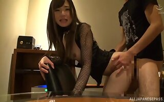 Controversial Japanese attend Kaede Mai moans via hardcore copulation